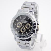 New Sale Price White&Black Dial Men Full Stainless Steel watches Fashion Sports Quartz Wrist Watch RO-52-1