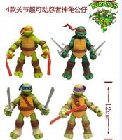 4pcs/set New version Teenage Mutant Ninja Turtles Ninja pvc Action Figures,Teenage Mutant Ninja Turtles figures toys