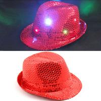 Paillette belt flasher fedoras masquerade party hat jazz hat