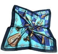 2014 Big Size 90x90cm Silk Square Scarf Women Fashion Brand  Silk Satin Scarves Polyester ShawL