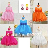 Free Shipping Children Clothing Girl's  rose flower ruffles evening dress