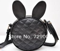 2014 new tide female bag rivet round mini cartoon cute bunny ears bag ling packet inclined shoulder bag Free shipping