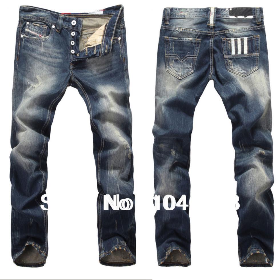 2014 hot hochwertige mode lässigen jeans, dieselverbrauch berühmte marke jeans männer, ausgefranste jeans, street-fashion jeans( alle auf Lager)