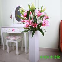 Artificial flower set floor vase artificial flower decoration flower elegant lily French floral overall