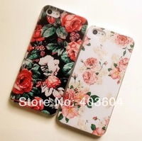 Coloured Printed Countryside Style Fresh Small Broken Flower Ultra-thin Plastic Back Cover Case for iPhone 4 4S Free Shipping