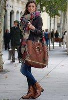 za winter 2014 scarf plaid designer unisex acrylic basic wrap shawls women's scarf female knitted fall pashmina chirstmas gift