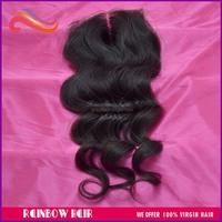 Brazilians hair loose wave 4*4'' top lace closure middle part 8''- 18'' hair extensions
