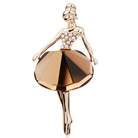 Accessories ballet girl brooch crystal female fashion christmas