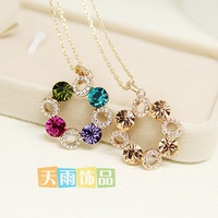 Accessories crystal necklace short design female chain fashion gift