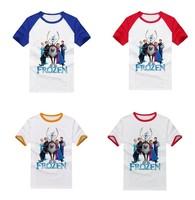 14 Choices Frozen T-shirt Cartoon Child Shirts Anna Elsa Kristoff Olaf Sven Print t-shirt