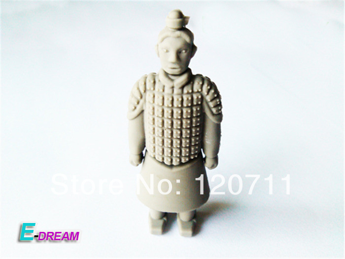 E-DREAM Wholesale cheap Terra-Cotta Warriors model 4GB 8GB 16GB 32GB USB Flash Drive Thumb Car Pen drive Personality Gift(China (Mainland))