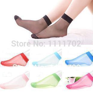 Free Shipping Hot Sale 2014 High Quality Comfortable Transparent Thin Crystal Socks/women socks 40pcs=20pairs Wholesale(China (Mainland))