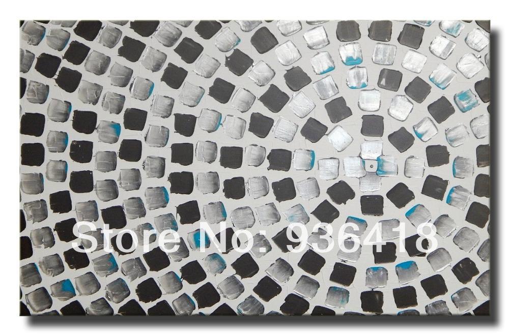 Turquoise Muur Slaapkamer : Abstract Metallic Acrylic Paintings On ...