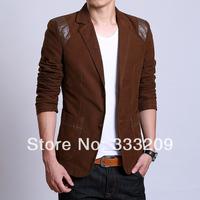 2014 Spring New Fashion Mens Suits Jacket Blazer Man England Style jaket Casual Slim Fit Plus Size 4XL 5XL 6XL Free shipping
