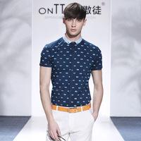 men big plus size famous brand casual shirts 2014 polka dot print mens luxury shirt short sleeve moda camisetas masculinas