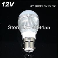 Wholesale(5pieces/lot)AC/DC 12V Led Bulb B22 3w 4w 5w 6w 7w 9w White light /Warm White Light LED Lamp
