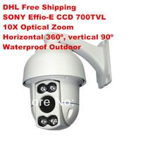 "CCTV MINI 4 Inch High speed PTZ IR 700TVL 1/3"" SONY CCD 10X Digital Zoom 3.9-39mm CCTV Waterproof Outdoor PTZ  Security Camera"