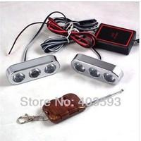 Wireless remote control flash strobe light  3LED*2 6LED red blue white light