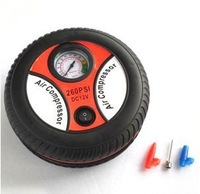 Free Shipping, DC 12V Inflator VehiclePortableTyre Inflating Pump, Mini Air Compressor