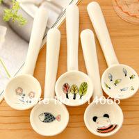 Small fresh eco-friendly ceramic spoon print spoon