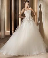 2015 new luxurious wedding fashion bridal wedding dress tube top bandage train princess wedding dress