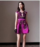 Sale Winer Dress New Spring 2014 Ethnic Style Embroidered Women Dress Temperament Slim High Quality Ladies Sleeveless Dress