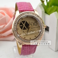 Fashion strap girls quartz watch table the trend of large dial women's watch