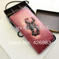2014 hot sale free Shipping Fashion leather women wallet ladies' purse wallets for women leather wallet,320