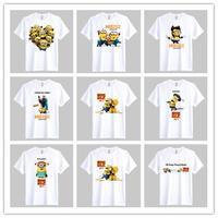 cartoon despicable me t-shirt minion 100% cotton men t shirt