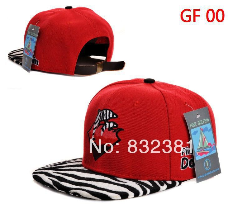 13 style pink dolphin snapbacks,baseball caps leopard pink dolphin hats for men(China (Mainland))