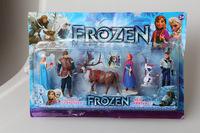 Frozen Figure Play Set Anna Elsa Hans Kristoff Sven Olaf 6pcs set classic toys
