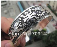 sample Antique New Tibetan Tibet Silver Totem Bangle Cuff Bracelet  wholesale 60pcs 30[pair] bracelets Antique Men's