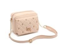 Hot sweet pink dimond plaid rivet evening bags one shoulder bags cross-body women's handbag