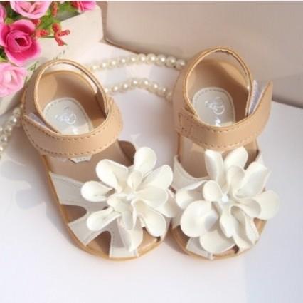 2014 printemps, fleur fille enfant bébé princesse chaussures femmes sandales enfants sandales plates
