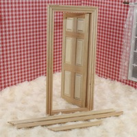 Free Shipping Free Shipping Diy doll house mini furniture tofo model plain solid wood doors zone lines 80003