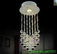 Free shipping D20cm*H50cm LED Modern Crystal Chandelier Light Fixture Crystal Pendant Ceiling Lamp   sent by DHL or FedEx
