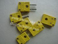 KX Type miniature thermocouple connector, Male & Femal,  Mini size, Yellow color