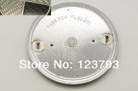 Free shipping 20pcs Black_Silver Real Carbon Fiber 74mm Car badge Rear Trunk Emblem Roundel PN: 51148219237