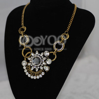 2014 New Fashion Personality Pendant Necklaces & Choker Necklaces With Circle Chain Women Charms JY0214025631