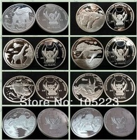 EMS Free Shipping 8 Types Of Democratic Republic Of Congo Endangered Wildlife Silver Plated Coins.800PCS/LOT