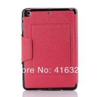 Free Shipping Full screen stand case for iPad Mini,for ipad mini 2 book leather back cover for ipad mini 2