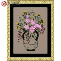 Ribbon embroidery herbal series paintings simple quietly waiting Cross Stitch