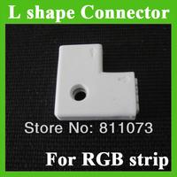 "Wholesale ""L"" Shape 4pin Female RGB 3528 5050 led strip light Connector"