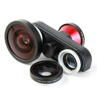Multifunctional 4 in 1 Super Wide Lens + Front-Facing Fish Eye + Macro + Fish Eye Lens for iPhone 5/5S