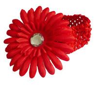 Free Shipping  Crochet Headbands Gerbera Daisy Flowers/Baby Hair Bows with Alligator Grip baby headbands10pcs/lot
