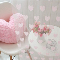 2014 new Romantic Love Heart Style Line Curtain promotion