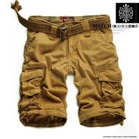 2015 casual army mens camo cargo shorts New summer cotton Short pants military camouflage fashion shorts men hot navy red Khaki
