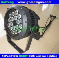 18*10W LED PAR64 RGBW 4IN1 Tri LED Brightness LED PAR CAN par64 spot light