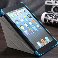 New Arrival Color Mix Pu Leather Flip Cover For Apple iPad Mini Case Sleep Wake W/Stand RCD03735