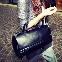 New 2014 Big Brand fashion women shoulder bag Office lady totes handbag cool black bucket shopping bag Famous Gift Free shipping